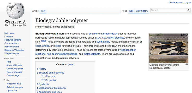 Sample of Wikipedia Page edited by McNeil Group