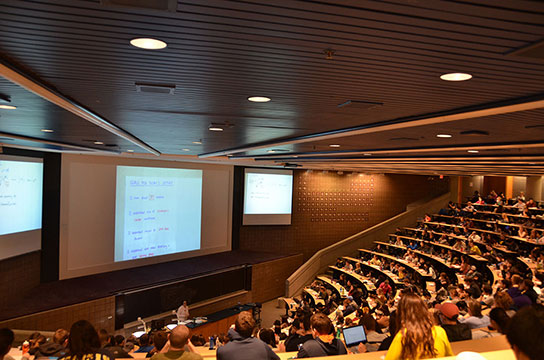 large lecture course